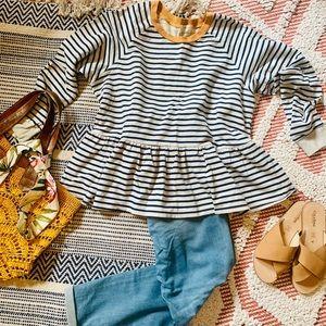 T.La Striped Sweatshirt